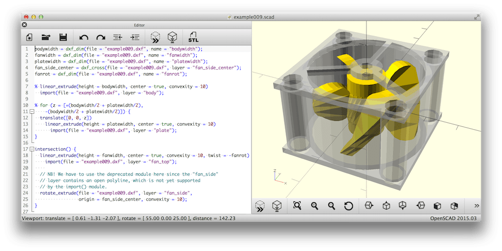 Openscad the programmers solid 3d cad modeller 3d cad software